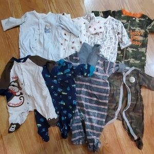 3 month lot sleepers/one piece outfit